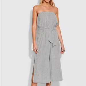 Seafolly XS 8 Stripe Strapless Jumpsuit Wide Leg